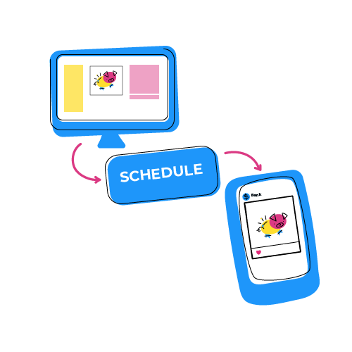 Illustration of Postgrain scheduling feature