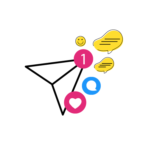 Illustration of Postgrain Direct Messages feature
