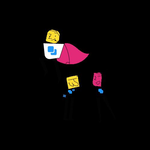 Postgrain support team illustration