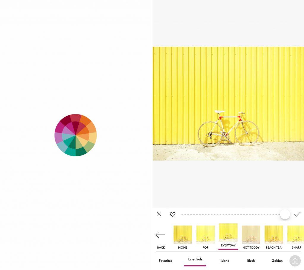 Captura de tela mostra o aplicativo A Color Story