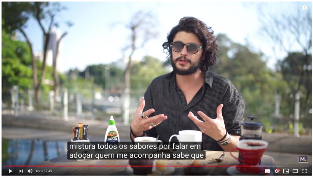"""Captura de tela de vídeo sobre a """"Rota do Café"""" publicado por Mohamad em seu canal no YouTube."""