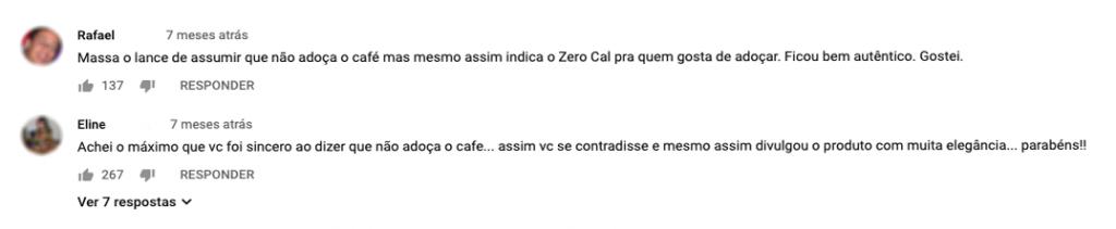 Captura de tela de comentários no vídeo do influenciador Mohamad Hindi.