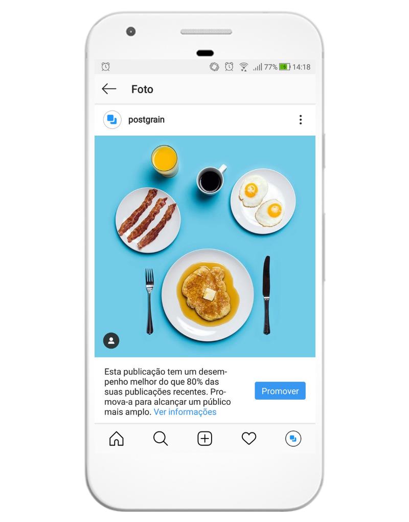 Com o Instagram for Business é possível criar anúncios