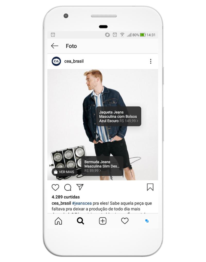 Com o Instagram for Business é possível ter uma loja online