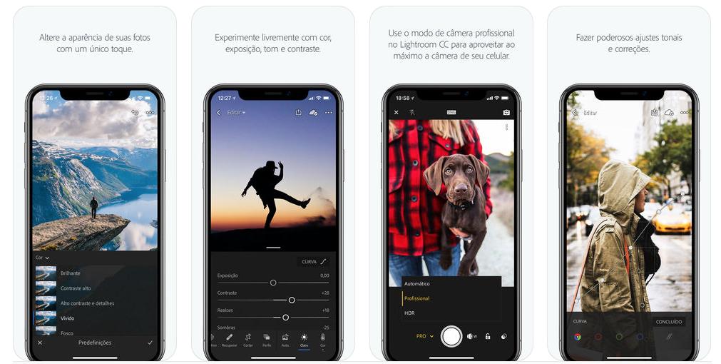 Com o Lightroom é possível criar presets definidos de filtros e usar em todas as fotos