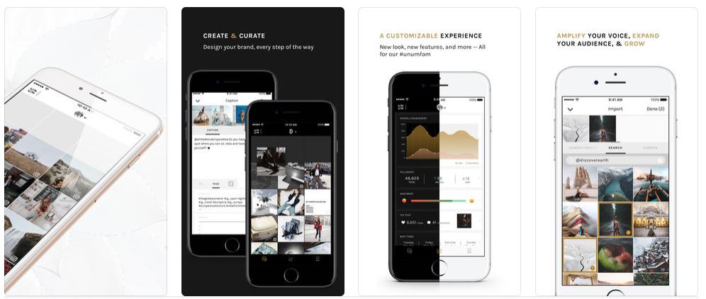 O aplicativo UNUM é um organizador de feeds do Instagram