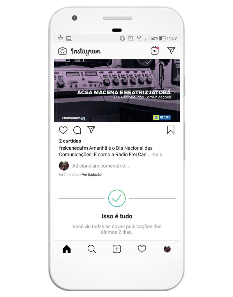 Instagram mostra mensagem quando o usuário já viu tudo no feed