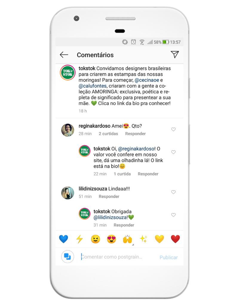 Responder comentários enquanto eles ainda estão recentes ajuda a criar um loop com o algoritmo do Instagram
