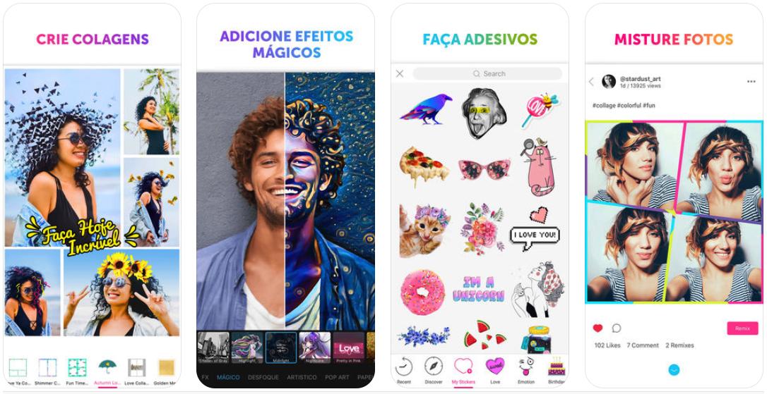 print-tela-iphone-picsart-aplicativos-postgrain