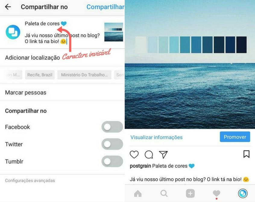 Como Pular Linha No Instagram Com O Caractere Invisível Postgrain