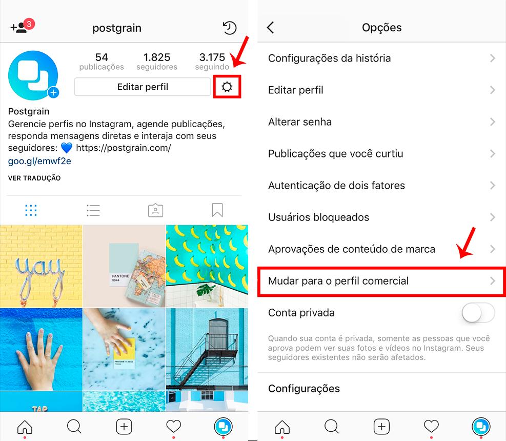 mudar-para-perfil-business-instagram-postgrain