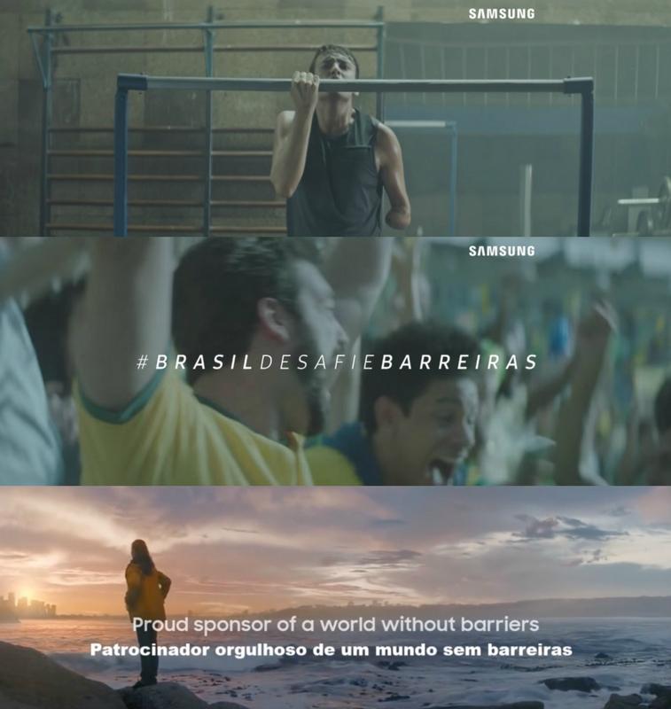 propaganda das olimpíadas 2016 da samsung