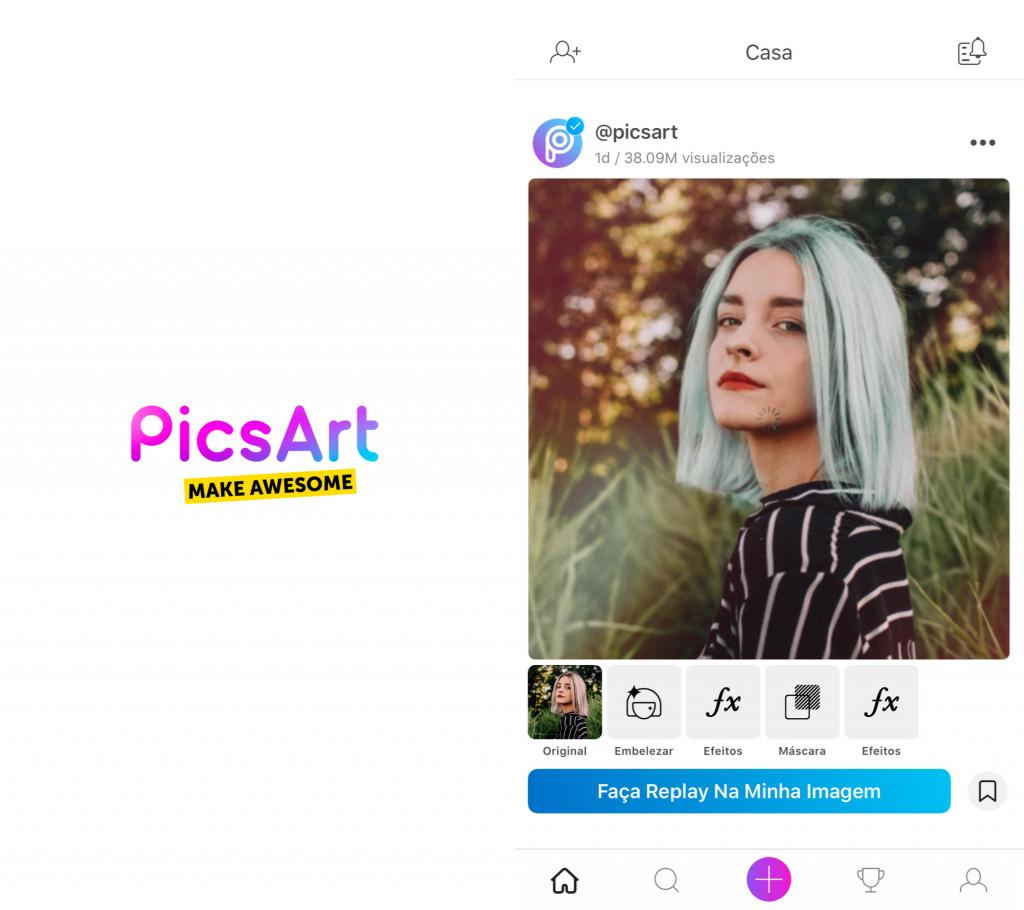 Captura de Tela do Aplicativo PicsArt para Instagram