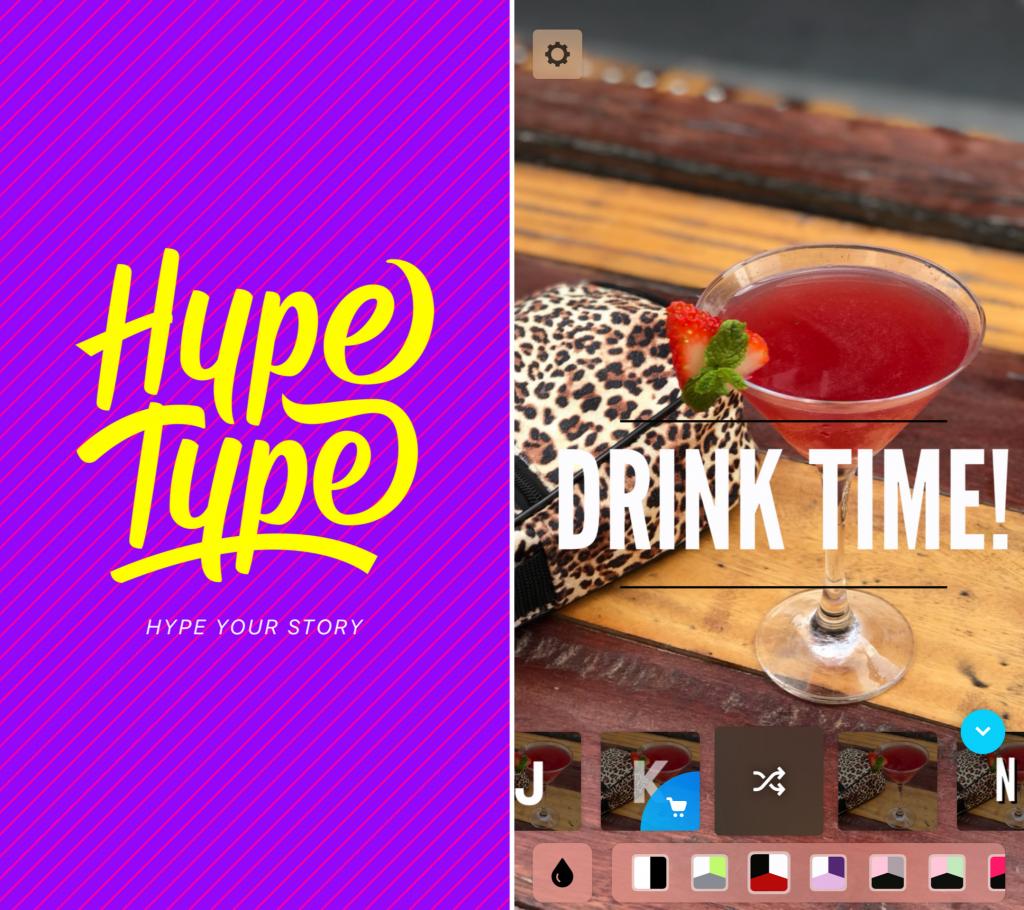 Captura de Tela do Aplicativo HypeType para Instagram