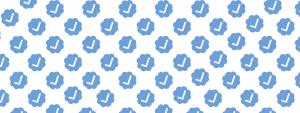 símbolos do selo azul, que representa a conta verificada