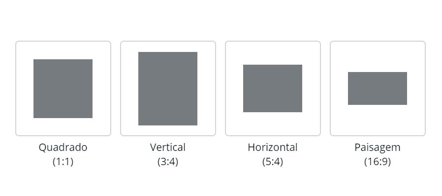 Ilustração mostrando os tipos de formatos suportados no agendamento de carrossel do Postgrain