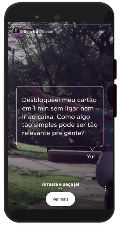 Print de um destaque de stories do perfil do nubank no instagram
