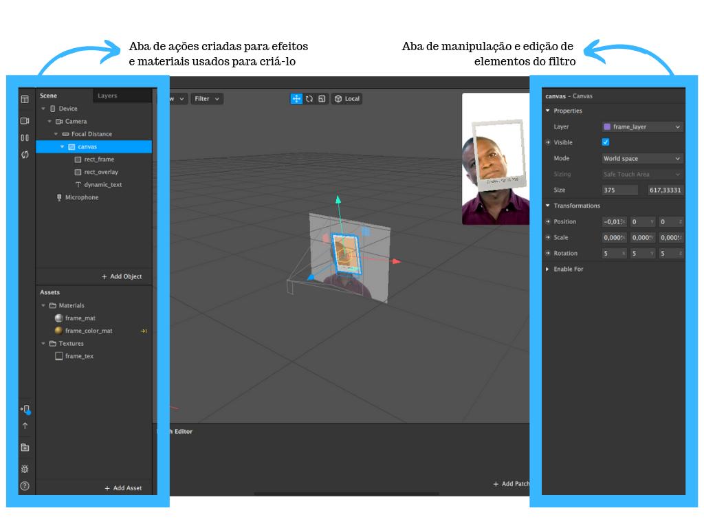 Postgrain - Como criar um filtro no Instagram imagens do Spark AR