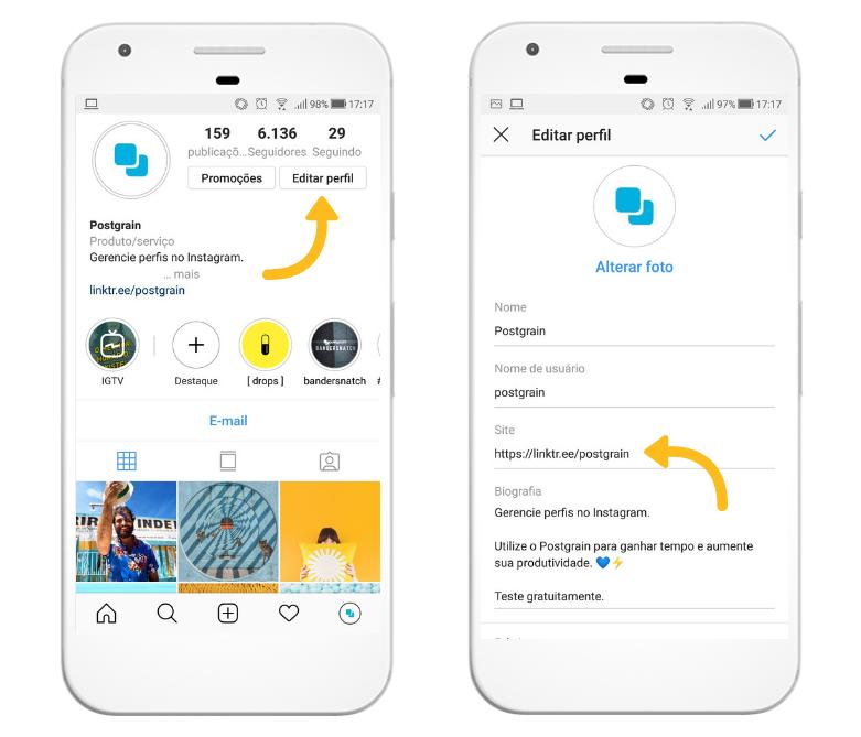 Como inserir link na bio do Instagram pelo celular