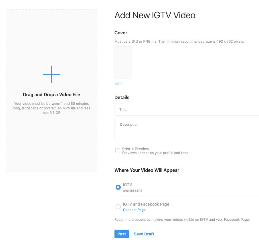 Como postar vídeo no IGTV