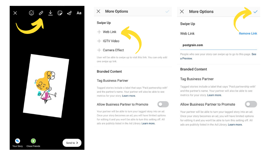 How to use links in Instagram Stories
