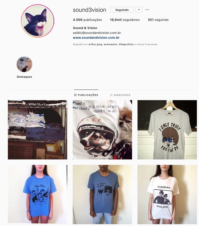 Captura de Tela do perfil no Instagram da marca Captura de Tela do perfil no Instagram da marca Sound Vision