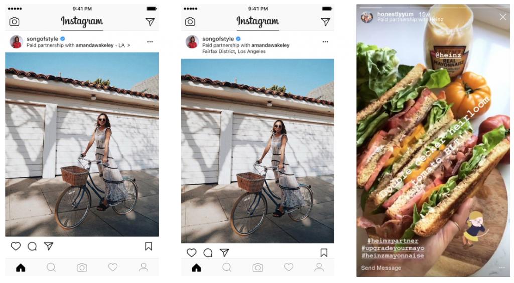 Captura de Tela da ferramenta de Conteúdo de Marca no Instagram