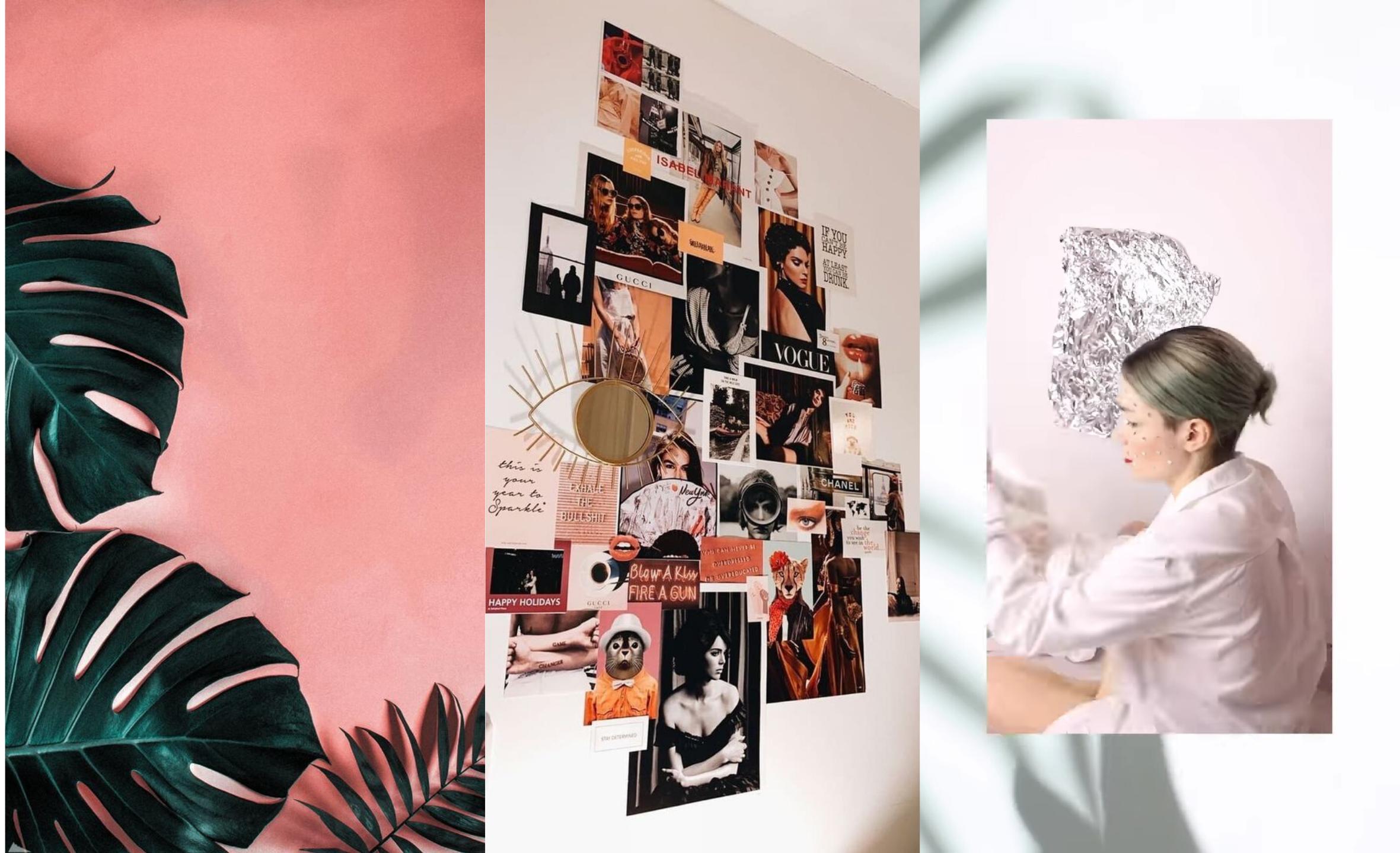 referências de fundo retiradas do pinterest e do perfil do Instagram da marca Uso Assim