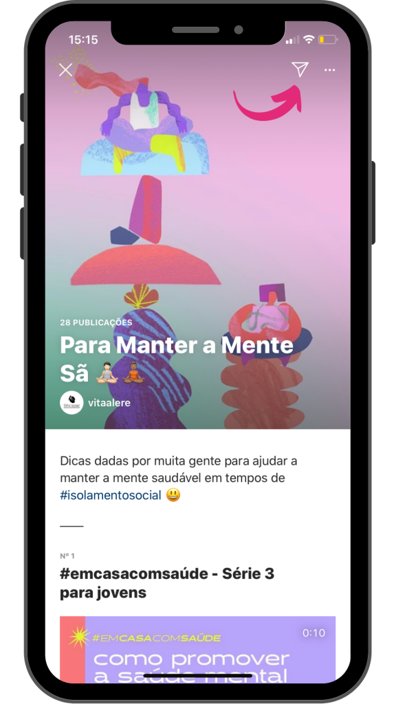 Conteúdo do Guias no Instagram pode ser compartilhado no Stories ou no Direct