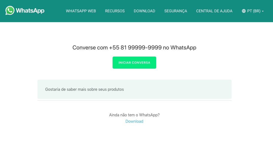 Como colocar link do WhatsApp no Instagram com mensagem